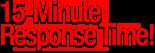 15-minutes response time